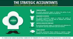 """The Strategic Accountants """"We provide professional support to enhance the quality your accounting and financial information report to fulfill whether internal, external, tax & regulation compliance and investor/debtor usage."""" In need of professional help? Call us at +62.1860.1840 PT. Konsultan Ranah Sejahtera, Jakarta, Indonesia"""