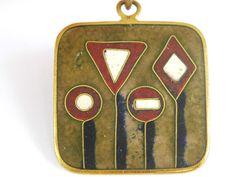 Scholz & Lammel Perli Schibensky enamel orig. Vintage Emaille Medaille Anhänger
