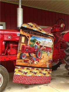 64 Best Tractor Quilts Images In 2020 Tractor Quilt