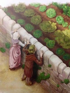 Rapunzel's Mother and Father craves for lettuce from the Wicked Witch's garden