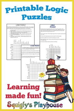 Printable Logic Puzzles for Kids.You can find Logic puzzles and more on our website.Printable Logic Puzzles for Kids. Logic Games For Kids, Word Puzzles For Kids, Printable Puzzles For Kids, Logic Puzzle Games, Math Logic Puzzles, Rebus Puzzles, Kids Worksheets, 3d Puzzles, Logic Problems