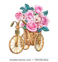 Find Bouquet Roses Basket Bridal Bouquet Pink stock images in HD and millions of other royalty-free stock photos, illustrations and vectors in the Shutterstock collection. Watercolor Drawing, Watercolor Print, Watercolor Illustration, Watercolor Flowers, Watercolor Paintings, Drawing Sketches, Art Drawings, Rose Basket, Rose Gold Wallpaper