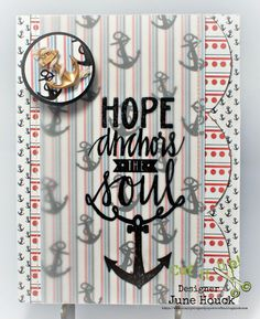 Simply Elegant Paper Crafts blog; Neat & Tangled stamp; anchor card