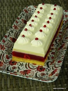 Paste al forno cu sunca si ciuperci - Lucky Cake Sweets Recipes, Easy Desserts, Cooking Recipes, Lucky Cake, Dessert Shots, Sweet Tarts, Something Sweet, Cheesecake, Deserts