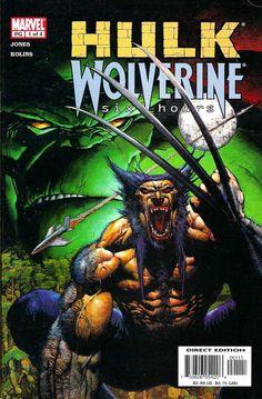 Hulk-Wolverine / Six Hours 1 / Marvel cover / 2003 (Simon Bisley)