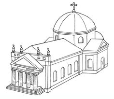 Drawings Of Churches Coloring Pages For Teenagers And Adults