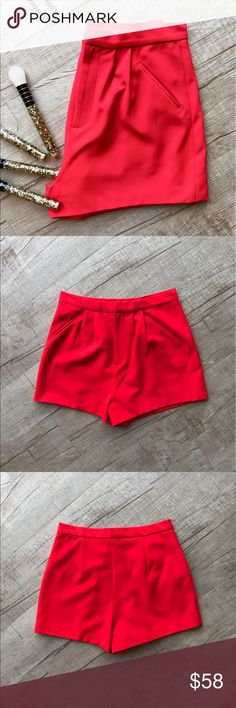 """Lovers + Friends """"Kind of Love"""" Highwaisted Shorts * LOVERS + FRIENDS """"Kind of Love"""" short * High waisted fit * pleated detail * side slit pockets * WAIST (laid flat, on one side) - 13"""" * INSEAM - 2"""" * LENGTH - 13"""" * 95% Polyester 5% Elastane  * Excellent Used Condition  * no trades/paypal/off cite transactions * all measurements are approximate Lovers + Friends Shorts"""