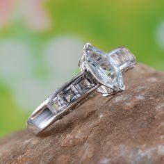 Espirito Santo Aquamarine and White Topaz Ring in Platinum Overlay Sterling Silver (Nickel Free)
