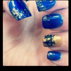 Notre dame nails  Totally doing this today!!! 1/7/2013  Go IRISH!