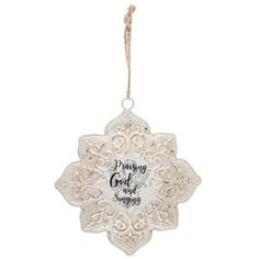 Praising God Metal Snowflake Ornament