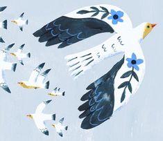 Vogel Illustration, Pattern Illustration, Guache, Illustrations, Bird Art, Collage Art, Creative Art, Art Drawings, Art Prints