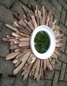 Fallen Walnut // sunburst mirrors made from fallen walnut trees