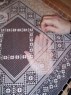 Lacemaker in portugal filet lace – ArtofitThis Pin was discovered by EmbI don't know who made this or even how it's done, but it was so beautiful I had to pin it for you to see!Image gallery – Page 7951736825142989 – Artofit Hardanger Embroidery, Hand Embroidery Stitches, Lace Embroidery, Filet Crochet, Needle Lace, Bobbin Lace, Crochet Tablecloth, Crochet Doilies, Advanced Embroidery