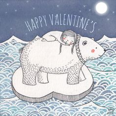 Happy Valentine's Day by Isabelle Monnerot-Dumaine www.lespetitsbrins.com Illustration jeunesse