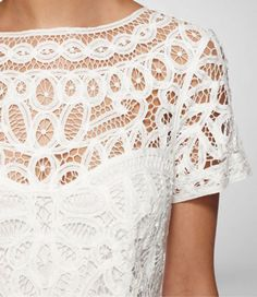 Battenburg lace dress by Lilly Pullitzer Latest Fashion For Women, Womens Fashion, Fashion Fashion, Fashion Ideas, Fashion Tips, Filet Crochet, Crochet Top, Fashion Details, Lace Detail