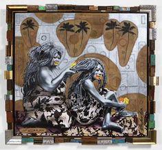 Ashley Bickerton, <i>Auntie Painting</i>, (2015) <br>Photo: courtesy Gajah Gallery</br>