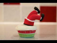 """Cupcake """"Tropiezo"""" de Santa Claus"""