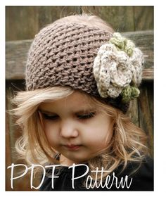 Crochet PATTERN-The Braelyn Warmer Toddler Child and Adult