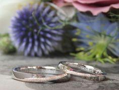 ひねりのフォルムにピンクゴールドのアクセント(結婚指輪・オーダーメイド) メビウスをアレンジして制作しました。 [marriage wedding bridal ring マリッジリング プラチナ ピンクゴールド Pt900 K18PG ith イズ]