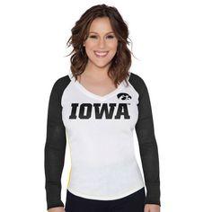 Iowa Hawkeyes Touch by Alyssa Milano Women's Team Pride Long Sleeve T-Shirt - White - $26.99