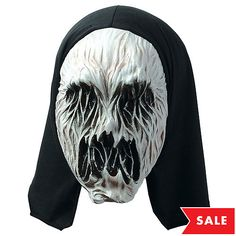 Be the best spook on the block in this scary mask! Our Hooded Terror Spirit Mask looks ghost-like with its white face and black eyes and mouth, but has sinewy texture. Halloween Looks, Halloween Face Makeup, Cool Masks, Mask Party, Get The Party Started, Party Stores, Makeup Ideas, Spirit, Shopping