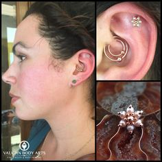 One of our favorite clients stopped by this weekend. Arianna has impeccable taste in body jewelry, so it's no surprise her new helix piercing Adam did features this stunning BVLA rose gold flower with...