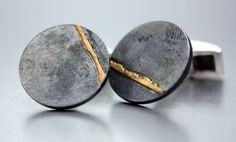 Agatha Leerdam - Cufflinks, oxidized silver and 18kt gold