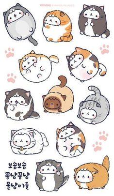 Zeichnung Cute Cat Illustrations 28 Ideen – – Number One Drawing Doodles Kawaii, Cute Kawaii Drawings, Cute Cat Drawing, Cute Doodles, Drawing Ideas, Drawing Drawing, Drawing Tips, Griffonnages Kawaii, Arte Do Kawaii