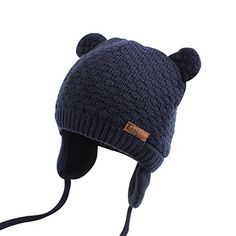 b07687065ce Bear Ears Cute Baby Hat Soft Cotton Newborn Baby Beanie Double Layer Warm  Winter Hat For Baby Girls Boys Knitted Kids Hats New