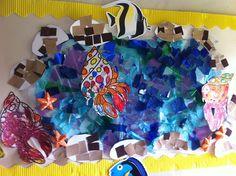 Rock pool/Sharing a shell wall display.