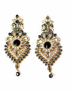 Chaahat Designer Jadau Earrings! #chandeliers #jadauearrings ...