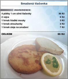 Levně a chutně s Ladislavem Hruškou - Smažená tlačenka Ethnic Recipes, Food, Meal, Essen, Hoods, Meals, Eten