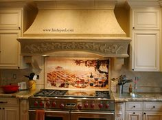 our latest customer installation of our Vinyard tile mural backsplash ...