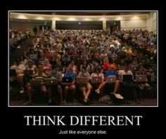 Think Different. Yeah, right! | #apple #MacOS #Mac #iOS #iPhone #humor