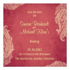 Hindu Wedding Invitation Mehndi Red And Gold Card Invitations Cards