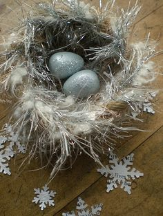 Winter Birds Nests: Directions