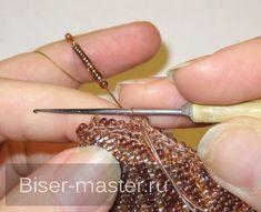Учимся наращивать нить при вязании с бисером