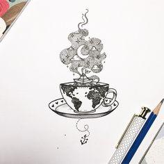 8 Wondrous Useful Tips: Keto Coffee Food coffee menu sketch. Pencil Art Drawings, Art Drawings Sketches, Tattoo Sketches, Tattoo Drawings, Coffee Cup Tattoo, Coffee Tattoos, Tattoo On, Body Art Tattoos, Tatoos