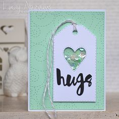 Hugs Mini Shaker | Lucy's Cards | Bloglovin'