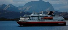 MS Polarlys is stylishly furnished with mahogany panelling, polished brass, and a selection of Norwegian contemporary art. Kirkenes, Cruise Reviews, Bergen, Great Photos, Norway, Ms, Coastal, Ships, Mountains