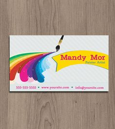 Painting logos google powanie pinterest logos fun painter artist business card pre made by naomigraphics 1250 colourmoves