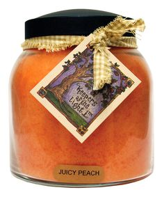 Juicy Peach Homespun Ribbon 34-Oz. Papa Jar Candle