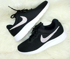 buy online 464f1 edc31 Nike Tanjun, Fitness Fashion, Nike Free, Active Wear, Swarovski Crystals,  Trainers