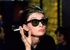 That time she judged you perfectly over the top of her glasses. | Community Post: 13 Times Audrey Hepburn Slayed