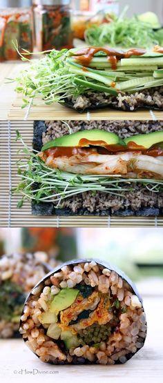 Kimchi Avocado Roll