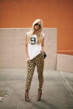 Barefoot Blonde // Leopard print ...