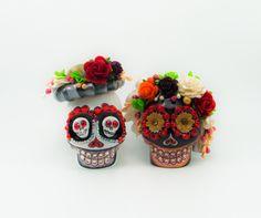 MINI cake topper Skull weddings handmade bride and by iampleasure