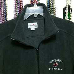 Northern Vibe Vancouver Canada Fleece Zipup Jacket - Souvenir jacket from fun Vancouver Gas Town   - Great condition - Size small, fits like a Medium - Grey fleece fabric, really warm - Side zip pockets Northern Vibe Jackets & Coats