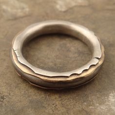 Ring | Chuck Domitrovich. Sterling silver core lined first with brass and then with a second layer of sterling