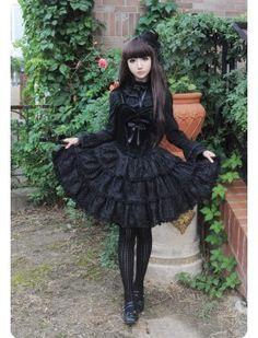 Boguta Black Swan Velvet Top Jumper Dress